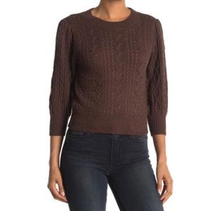 NWT FREE PEOPLE Villa Knit Sweater in Coffee Bark Size Small